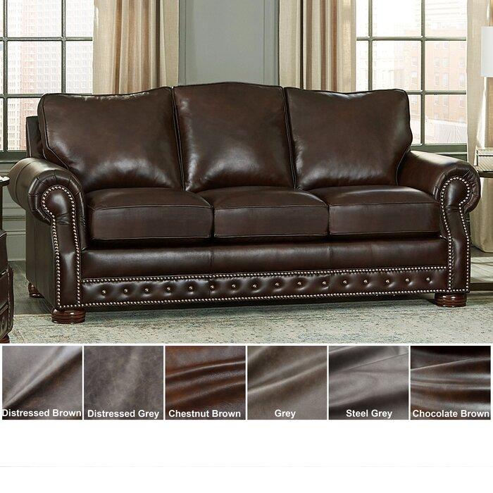 Pelaez Leather Sofa Bed