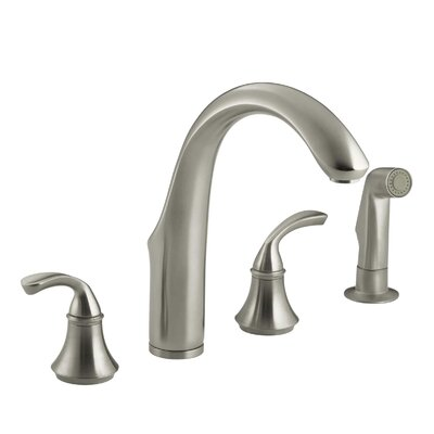 Forta 4 Hole Kitchen Sink Faucet With 7 34 Spout Matching Finish