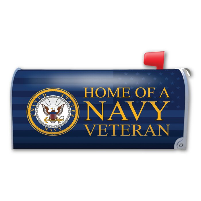 Home of a Navy Veteran Magnetic Mailbox Cover