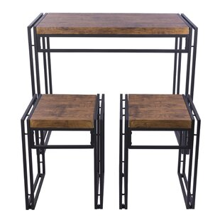 Debby Small Space 3 Piece Dining Set Williston Forge