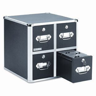Four-Drawer CD File with Key Lock Holds 660 Discs, 14-1/2 x 15 x 14-3/4, Black Ideastream Products