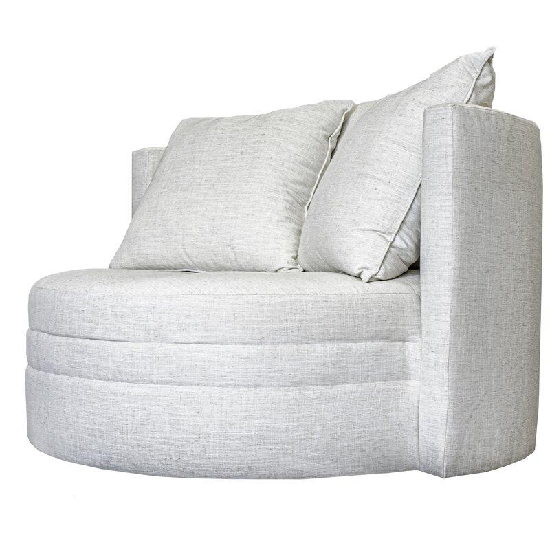 """Vivienne Swivel 46"""" Barrel Chair"""
