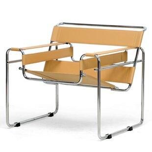 Save  sc 1 st  AllModern & Modern u0026 Contemporary Tan Leather Accent Chair | AllModern
