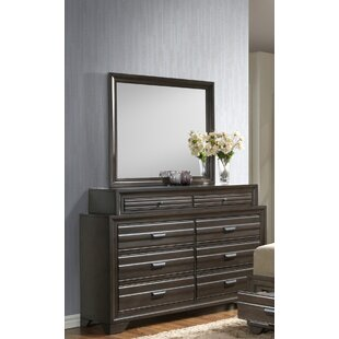 Benalla 8 Drawer Double Dresser With Mirror by Bloomsbury Market 2019 Sale