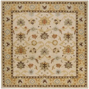 Keefer Hand-Woven Wool Beige/Tan Area Rug by Charlton Home