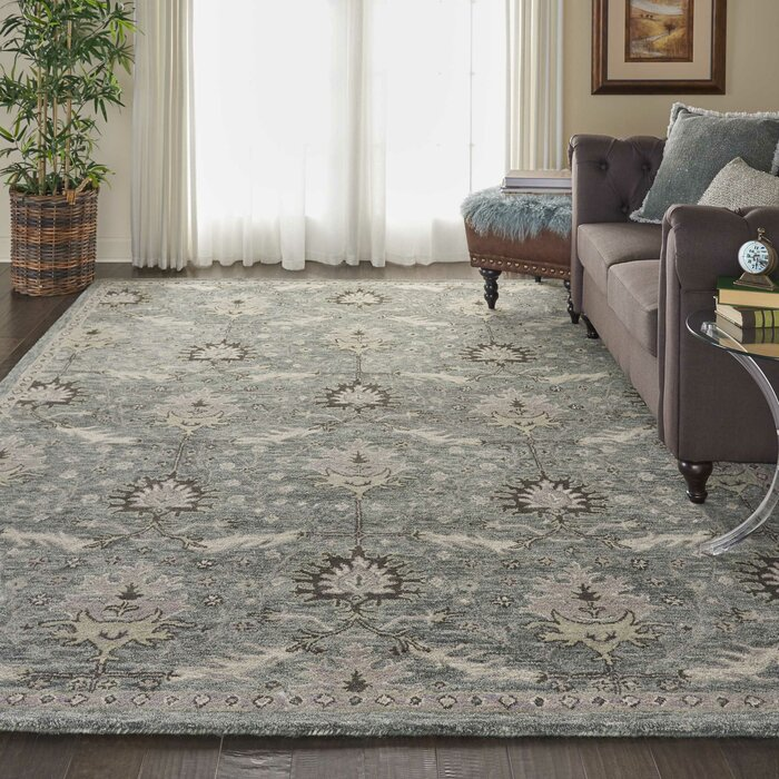 Bade Hand Tufted Wool Gray Area Rug