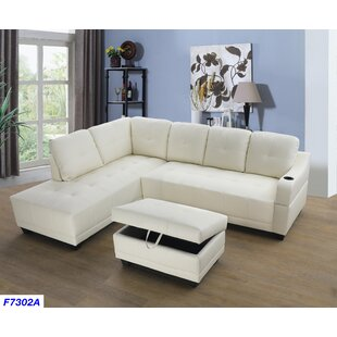 Bluebell Sectional with Ottoman