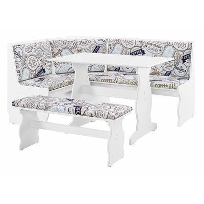 Winston Porter Wooley Wooden 5 Piece Breakfast Nook Dining Set