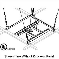 Variable Position Suspended Ceiling Plate