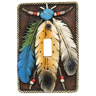 3 Feathers Single Switch Plate