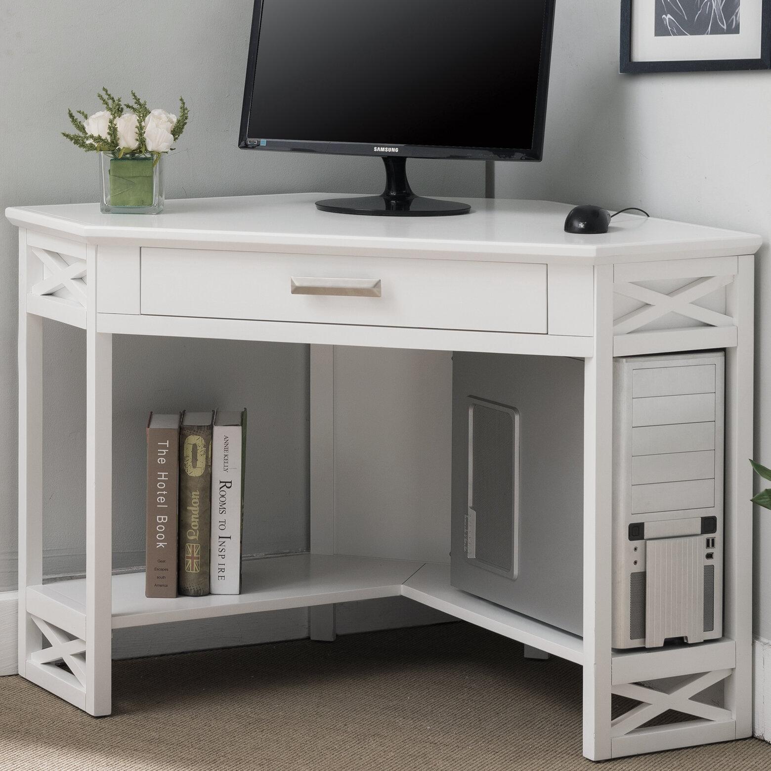 Image of: Breakwater Bay Moorton Corner Desk Reviews Wayfair