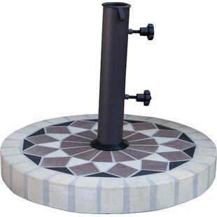 Aronwold Round Mosaic Sandstone Free Standing Umbrella Base