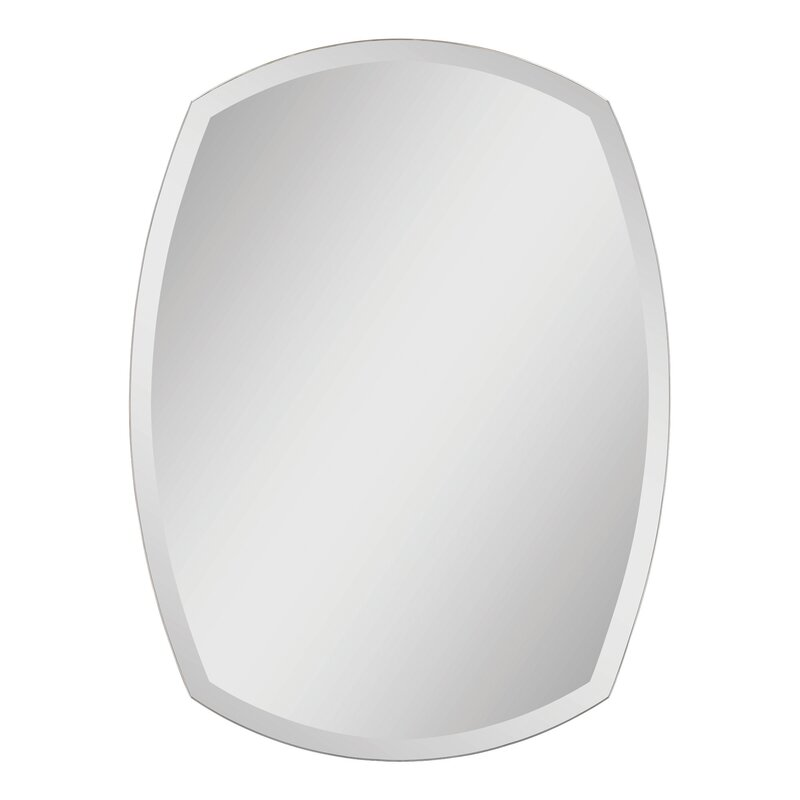 Unique Wide Frameless Beveled Mirror