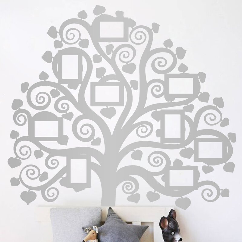 5d527d40ef25 The Decal Guru Family Tree Pictures Wall Decal | Wayfair
