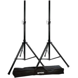 Adjustable Height Speaker Stand Set Set of 2 by Gemini