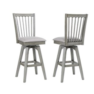 Amazing Vergara Spindle Back 28 Swivel Bar Stool Set Of 2 By Andrewgaddart Wooden Chair Designs For Living Room Andrewgaddartcom