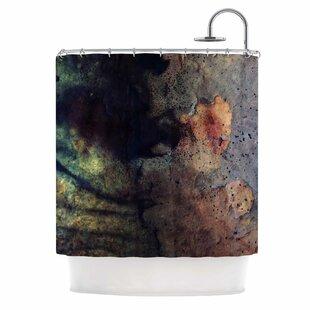 'Abstraction No 12' Mixed Media Single Shower Curtain