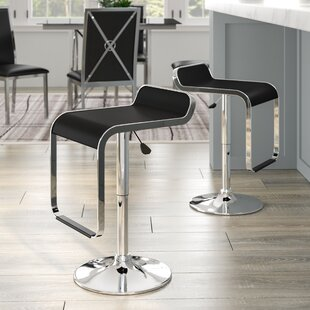 Wilton Adjustable Height Swivel Bar Stool (Set of 2) Wade Logan
