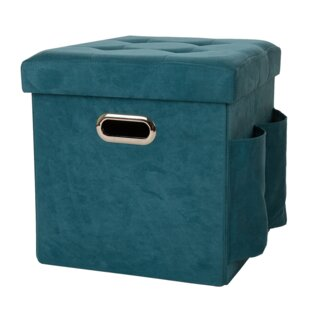 Save  sc 1 st  Wayfair & Turquoise Storage Ottoman | Wayfair