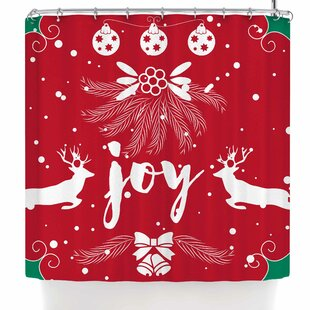 Find for Famenxt Christmas Joy Shower Curtain By East Urban Home