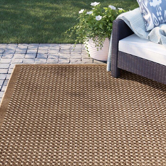 Dondale Weave Beige Indoor Outdoor Area Rug