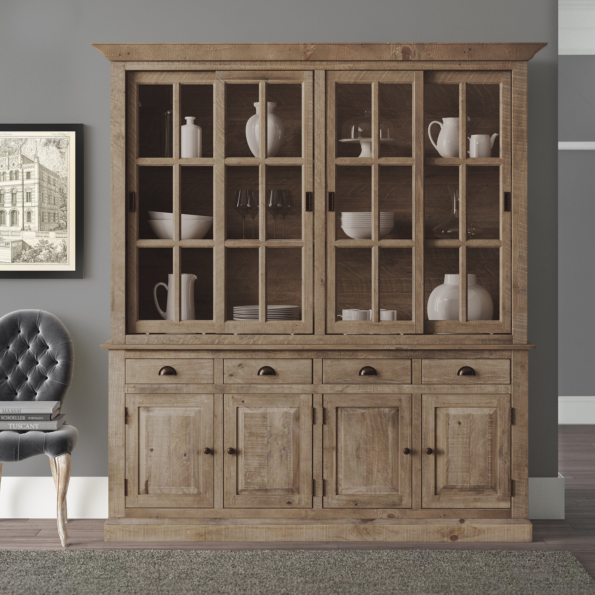 China Cabinet Pine Display China Cabinets You Ll Love In 2021 Wayfair