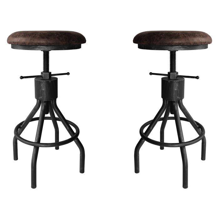 Magnificent Verdell Backless Adjustable Height Swivel Bar Stool Set Of 2 Pabps2019 Chair Design Images Pabps2019Com