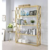 Betty 72 H x 48 W Metal Etagere Bookcase by Everly Quinn