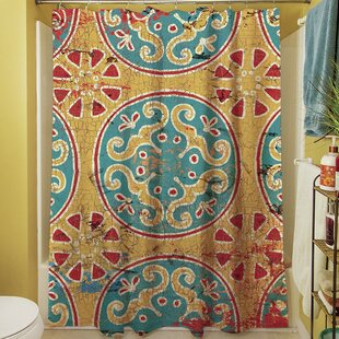 Theo Medallion Single Shower Curtain