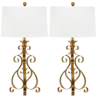 Lucrezia Scroll Sculpture 31.5 Table Lamp (Set of 2)