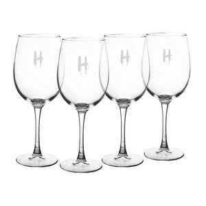 Personalized Spooky 19 Oz. White Wine Glasses (Set of 4)