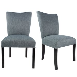 Lager Head Upholstered Contemporary Parsons Chair (Set of 2) by Red Barrel Studio
