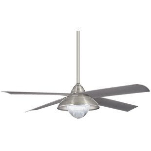 56 Shade 4 Blade Outdoor LED Ceiling Fan