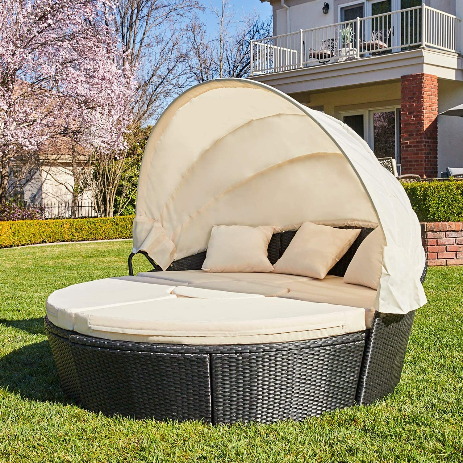 Bayou Breeze Schulz Patio Daybed With Cushions Reviews Wayfair
