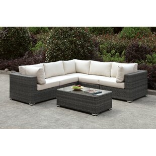 Peters 4 Piece Deep Seating Group with Cushions Find & Reviews