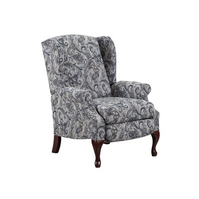 August Grove Manual Recliner Upholstery Color: Luisa Prussian by August Grove