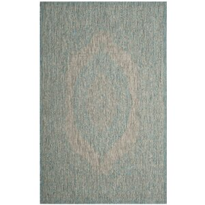 Myers Gray/Aqua Indoor/Outdoor Area Rug