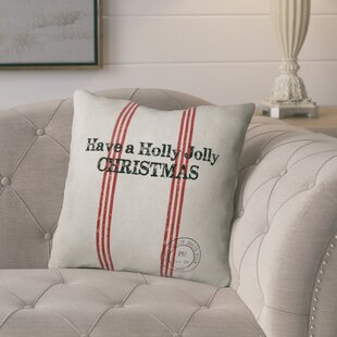 Holly Jolly Christmas Throw Pillow