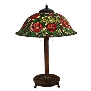 Ruff Rose Bush 31.5 Table Lamp