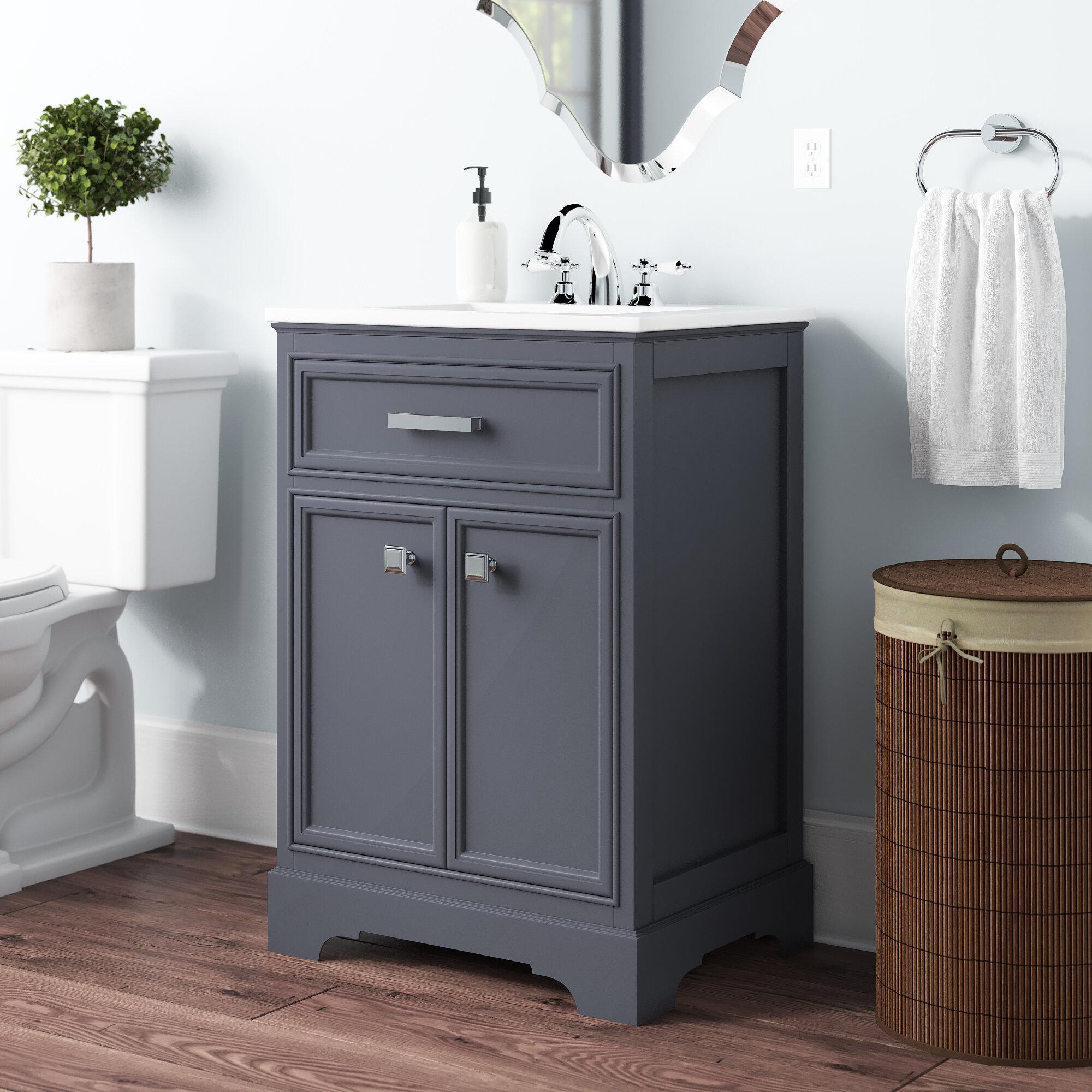 """Charlise 8"""" Single Bathroom Vanity Set"""
