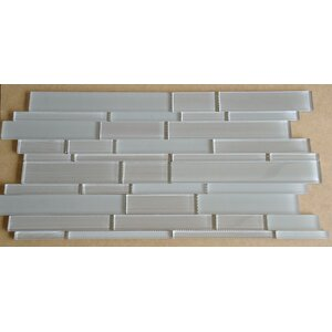 Studio Random Sized Glass Mosaic Tile in Taupe