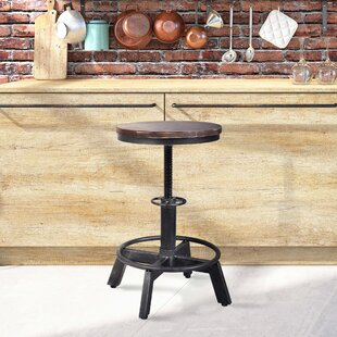 Anglo Backless Metal Adjustable Height Bar Stool - set of 4 (Set of 4) by Williston Forge