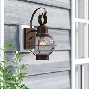 Cosgrove 1-Light Outdoor Wall Lantern By Beachcrest Home
