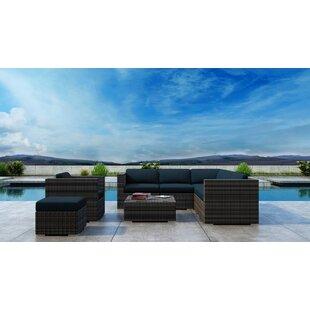 Gilleland 8 Piece Sectional Set with Sunbrella Cushion