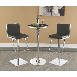 Wayland 3 Piece Pub Table Set Everly Quinn