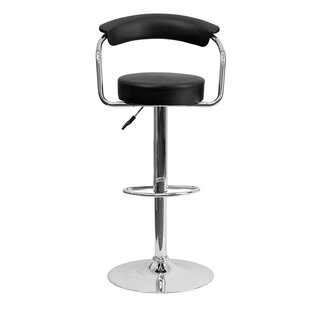 Uma Adjustable Height Swivel Bar Stool Orren Ellis