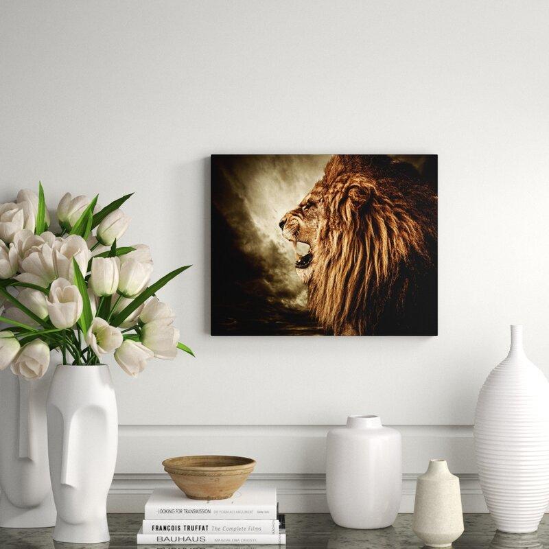 Decorumby Epic Lion Profile Unframed Photograph Print On Paper Perigold