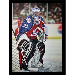 'Patrick Roy Colorado Avalanche' Print Poster by Darryl Vlasak Framed Memorabilia by Buy Art For Less