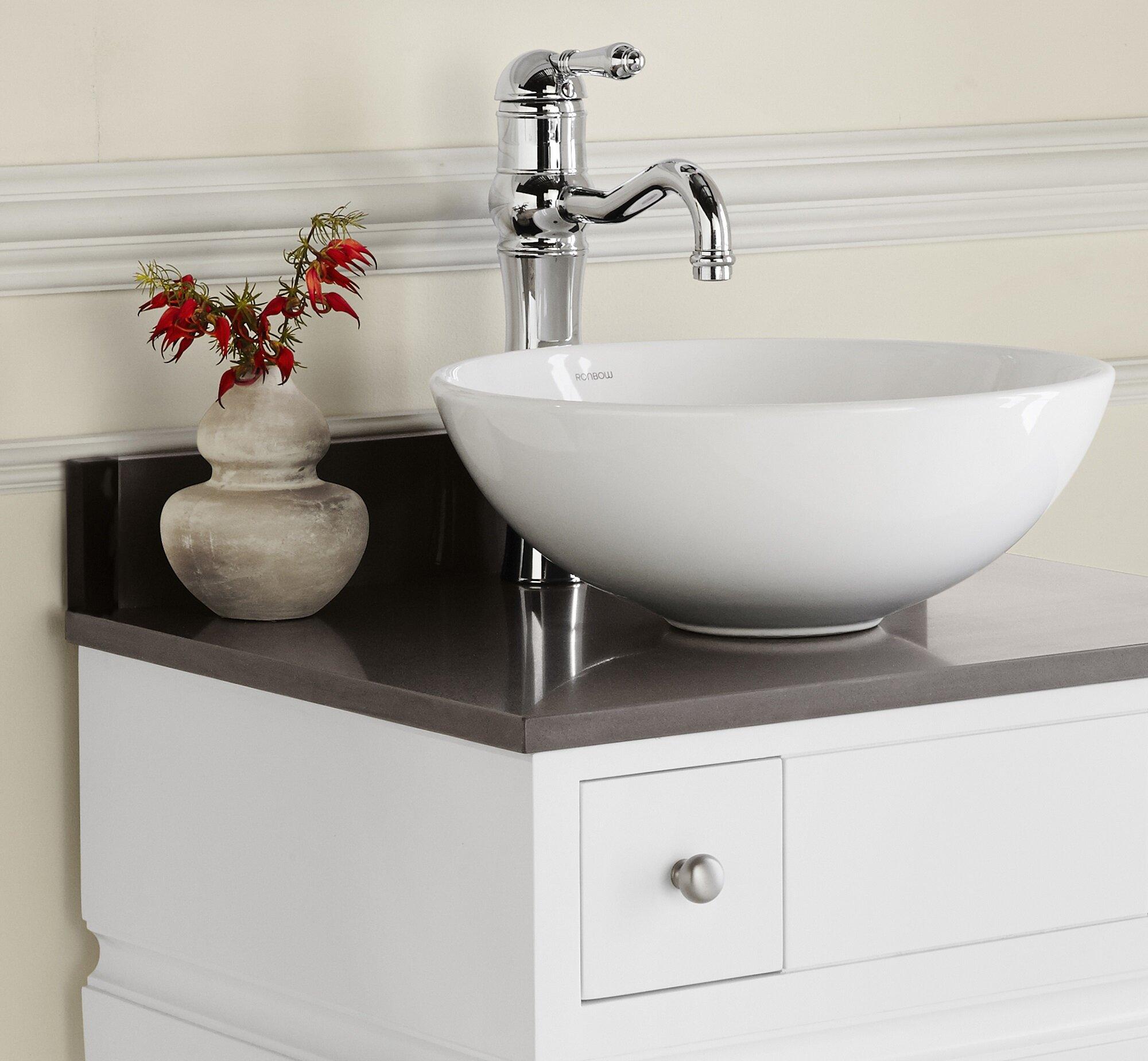Contour Ceramic Circular Vessel Bathroom Sink