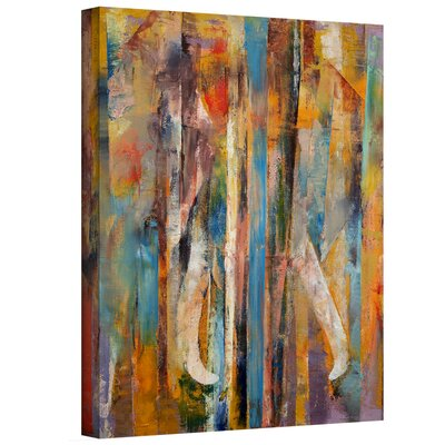 Ebern Designs 'Elephant' Painting on Wrapped Canvas Print Size: 48 H x 36 W